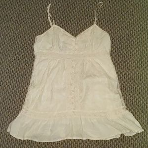 Cream lace tunic dress size small